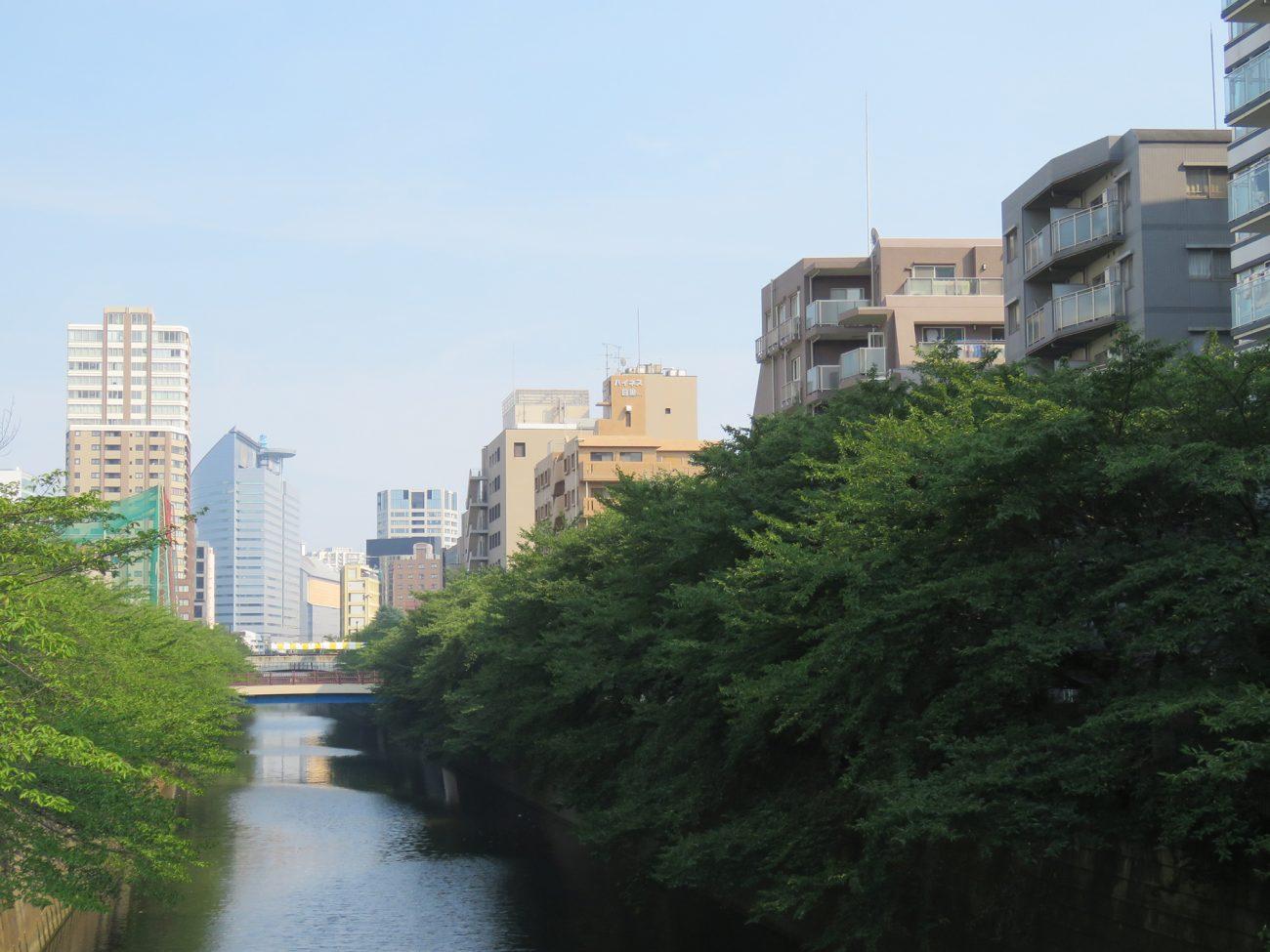目黒川沿いの立地
